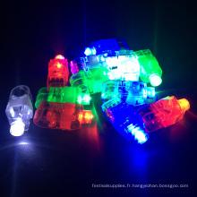 Anneau de doigt de lumière LED clignotant