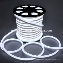Top quality led flex tube waterproof IP65 led neon light holiday rope light outdoor white color led flexible neon strip light