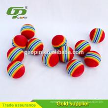 Bola de golfe personalizada da cor do arco-íris da bola de eva do golfe / bola do golf / espuma