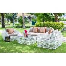 Poly Rattan PE sofá conjunto para jardín al aire libre - Colección de muebles de ATC