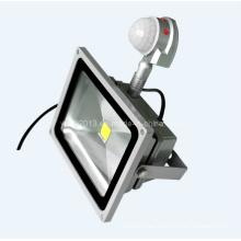 IP65 impermeable al aire libre 40W PIR sensor de movimiento LED inundación con 3 años de garantía