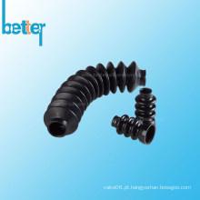 Botas de neoprene extrudado personalizadas com fole para tubos de borracha