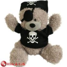 Soft Push toy pirate teddy bear