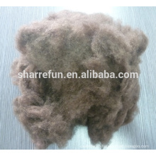 pure dehaired yak wool brown color spinning fiber