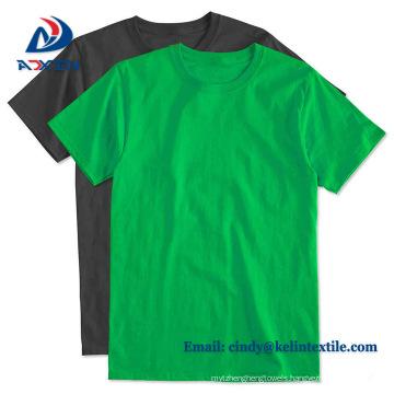 Bulk Custom Print Men High Quality T Shirt Basic Top Tee Green T-Shirts