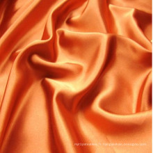 100% Polyester Tissu Satin Teint Uni