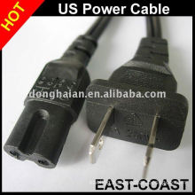 Standard UL 2Pins Power Cable 18AWG