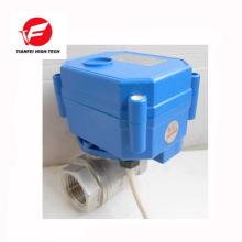 5v dc3.6v-6v DC12v dn15 dn20 ss304 CWX-15N válvula eléctrica