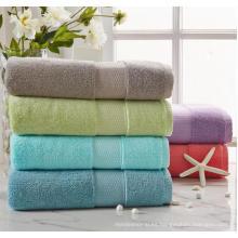 (BC-TB1002) Toalla de baño de felpa teñida de color liso 100% algodón