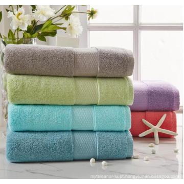 (BC-TB1002) Toalha de banho felpuda tingida com 100% algodão
