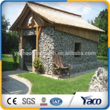 Joint gris de mur de soutènement de cage en pierre de PVC pour le sol, panier de gabion de fil d'acier inoxydable