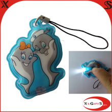 Weiches PVC LED Keychain mit kundenspezifischem Firmenzeichen