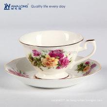Fine Ceramic Magnificent And Thin Bone China Kaffeetasse und Untertasse Set