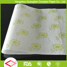 El logotipo personalizado de encargo imprimió el papel antiadherente de las hojas de pergamino de la hornada