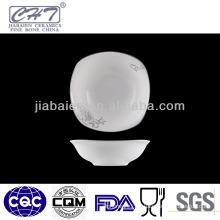 A004Grace porcelain square decorative soup dinner bowl