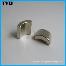 Forme forte permanente Neodymium Aimant Grade N35 Arc