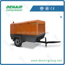 Denair 460cfm portatil diesel compresor de aire con martillos neumaticos