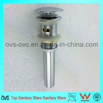 Factory Brass Bath Lavatory Pop Up Drain with Overflow