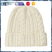 New coming high safety custom cheap knit hat for 2016