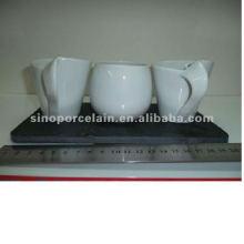 4pcs chocolate set white porcelain for BS120418A