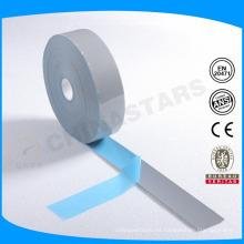 Logotipo personalizado color plata transferencia de calor cinta reflectante