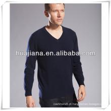 Camisola de confecção de malha plana de 100% cashmere