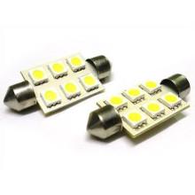 5050 6SMD 36 mm Festoon luz para carro