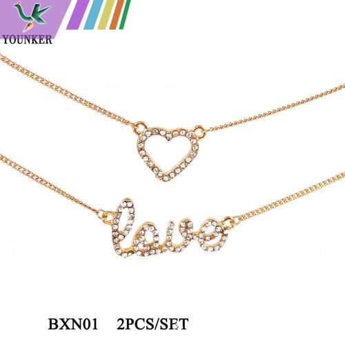 JUEGO DE COLLAR LOVE HEART FASHION