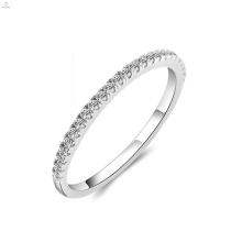 Hochzeit Engagement Diamant Zirkon S925 Silber Eternity Ring