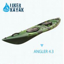 4.3m Angler 4.3 Fischen Single Sitz Sitz auf Oberseite Kajak, Motor vorhanden