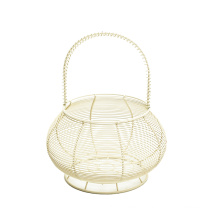 New Chinese Storage Baskets Metal Art Snacks Candy Fruit Basket for Living Room Desktop Kitchen Organizer Basket