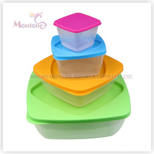 4pack Bento Lunch Box, Mikrowelle sicher Kunststoff-Storage-Food-Container