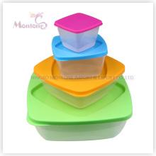 Caixa de almoço de 4pack Bento, recipiente de alimento plástico seguro do armazenamento da microonda