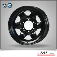 Mejor venta agujero de ventilación grande negro rueda de acero con precio de fábrica