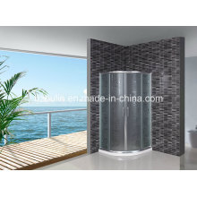 Acid Glass Shower Screen with White Water Bar (AS-904)