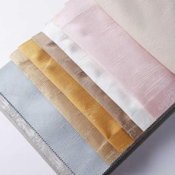 High Density Silk Like Curtain with Irregular Designs