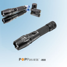 Lanterna de alumínio do CREE Xm-L T6 LED do poder superior (POPPAS-868)