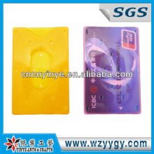 man and woman hard plastic ID card holder