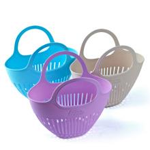 Panier de collection en plastique écologique avec poignée