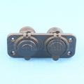 Daier Panel montado micro USB Car Cargador 2 Puerto y coche 12V DC Socket