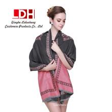 Bufanda de cachemira a estrenar Bufandas Pashmina coloridas calientes Multi-way Wear chal de contraste de gran tamaño para mujer