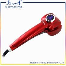 Cepillo de pelo profesional de pelo rizador de cerámica con pantalla LCD