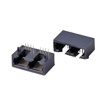 RJ45 Jack Side Entry Vollplastik mit Beule