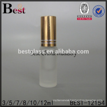 cosmrtics 5ml 10ml small roll on bottle frosted perfume tube glass roll bottle vial with gold cap alibaba china
