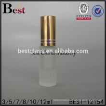 cosmrtics 5мл 10мл небольшой крен на бутылки дух стекла пробки замороженный крен бутылка флакон с золотой крышкой alibaba Китай