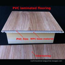 7mm populärer WPC-lamellenförmig angeordneter Bodenbelag PVC lamellierter Bodenbelag-dekorativer Bodenbelag wasserdichtes langlebiges Gut