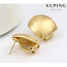 91994 moda simples banhado a ouro brincos de jóias em liga de metal