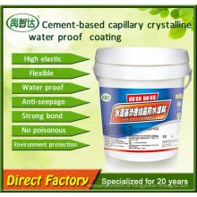 Revestimento impermeabilizante cristalino capilar cimentício