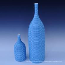 Creativo de cerámica hecha a mano azul flor de cerámica decoración uso de jarrón para el hogar (PA01)