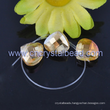 Plating Heart Fashion Crystal Beads